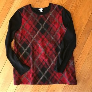J. Jill Argyle Wool Blend Sweater